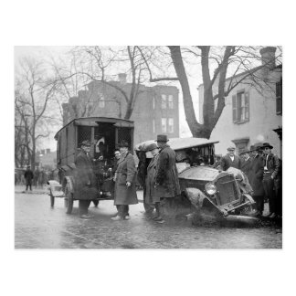 Bootlegger's Wrecked Car, 1922 Postcard