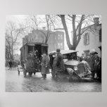 Bootlegger's Wrecked Car, 1922. Vintage Photo Poster