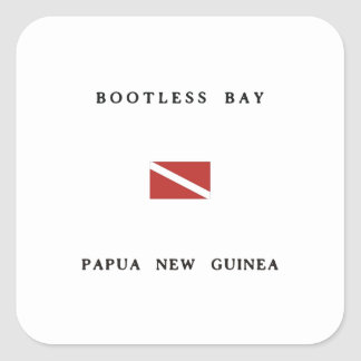 Bootless Bay Papua New Guinea Scuba Dive Flag Square Sticker