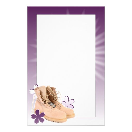 boots and flowers stationery