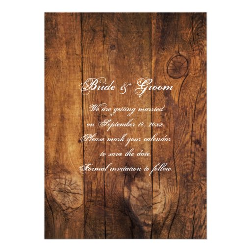 Boots and Horse Bit Country Wedding Save the Date Announcements (back side)