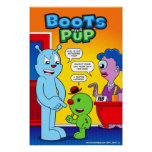 """Boots and Pup Poster 14"""" x 21"""""""