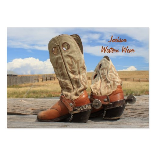 Western wear business card templates bizcardstudio boots and spurs western business card colourmoves