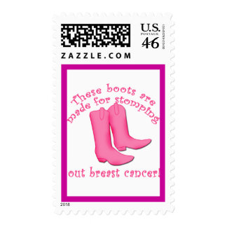 Boots Are Made for Stomping out Breast Cancer Stamp