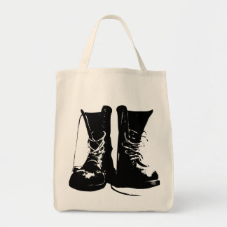 Boots (Black Version) Grocery Tote Canvas Bag