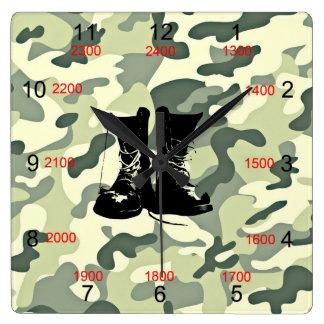 Boots & Camo Military Wall Clock