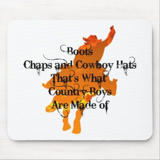 Boots, Chaps, and Cowboy Hats...Mousepad Mouse Pad