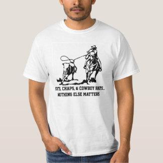 BOOTS, CHAPS, & COWBOY HATS T-SHIRT