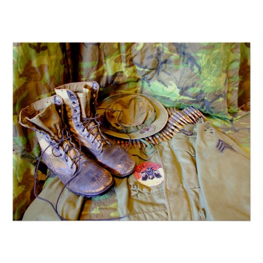 Boots Cib Sgt Stripes And Blue Ghost Poster Zazzle Com