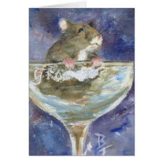 Boots Dwarf Hamster Blank Card