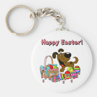 Boots Found the Easter Basket Basic Round Button Keychain