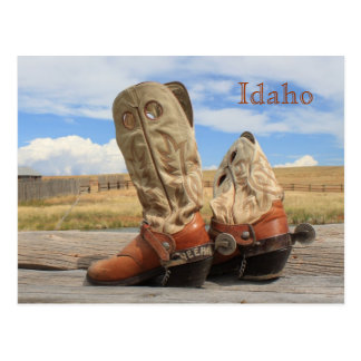 Boots from Idaho Postcard