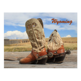 Boots from Wyoming Postcard