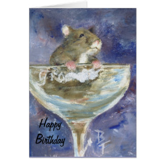 Boots Hampster aceo Birthday Card