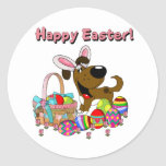 Boots has Easter Bunny Ears Round Sticker
