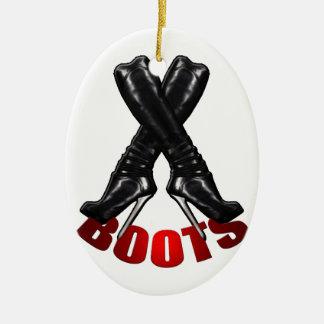Boots - Metal Heels Ceramic Ornament