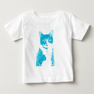 Boots the Cat in Blue T-Shirt