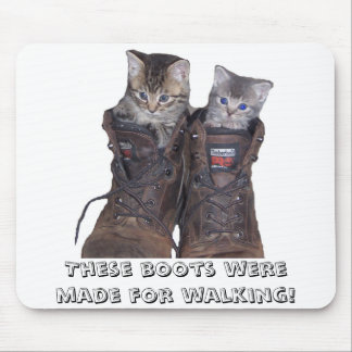 boots, These boots were made for walking! Mouse Pad