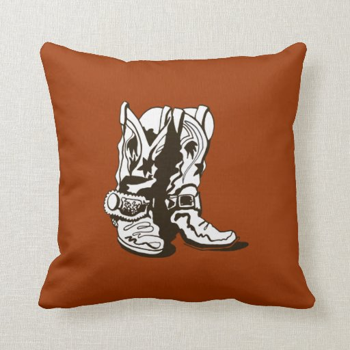 Boots With Spurs Throw Pillows