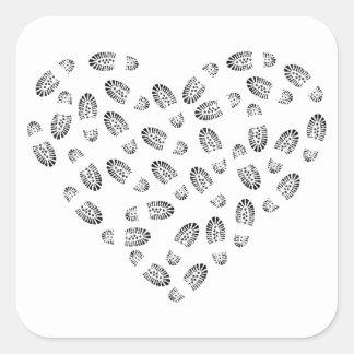 bootstomp heart square sticker