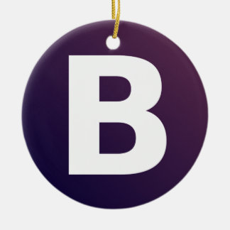 Bootstrap Logo Double-Sided Ceramic Round Christmas Ornament