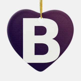 Bootstrap Logo Double-Sided Heart Ceramic Christmas Ornament