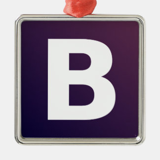 Bootstrap Logo Square Metal Christmas Ornament