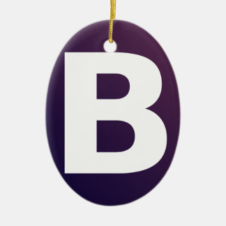 Bootstrap Logo Double-Sided Oval Ceramic Christmas Ornament