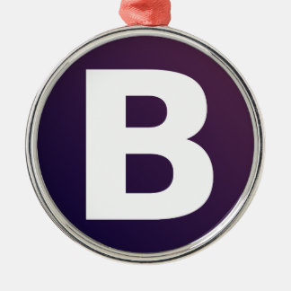 Bootstrap Logo Round Metal Christmas Ornament