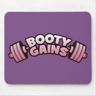 Booty Gains - Women's Novelty Motivational Workout Mouse Pad