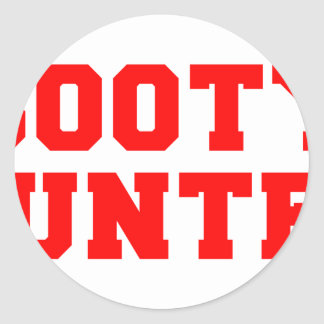 BOOTY-HUNTER-fresh-red.png Classic Round Sticker