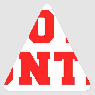 BOOTY-HUNTER-fresh-red.png Triangle Sticker
