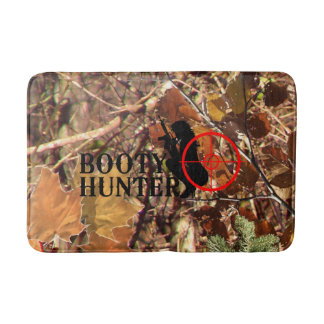 Booty Hunter on Fall Camo Bath Mat