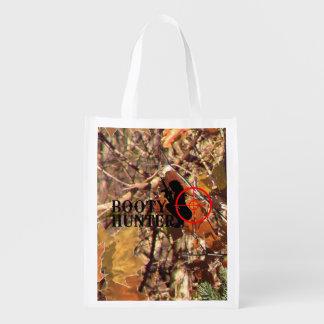Booty Hunter on Fall Camo Reusable Grocery Bag