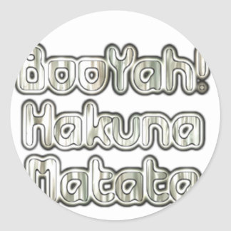 Booyah Hakuna Matata Customize Product Sticker