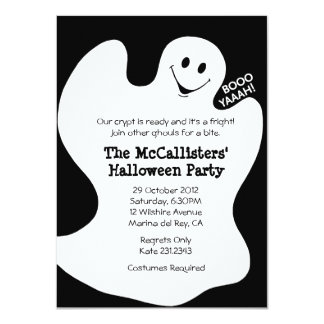 BOOYAHH! Halloween Costume Fun Party Invites Announcement