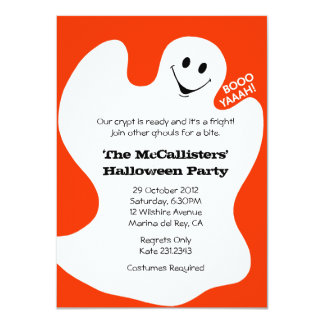 BOOYAHH! Orange Halloween Costume Fun Party Announcement