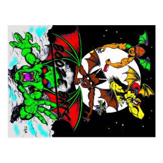BOOZE BATS FULL ART POSTCARD