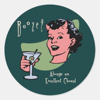 Booze Choice Classic Round Sticker
