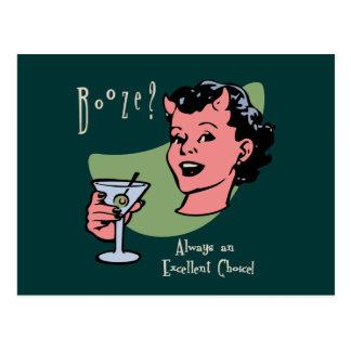 Booze Choice Postcard