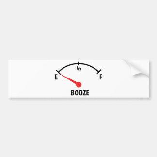 booze display icon car bumper sticker