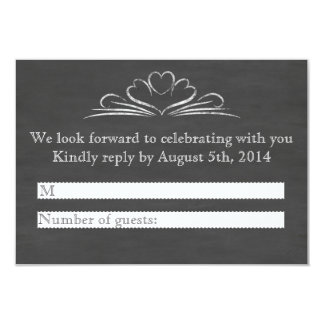 Booze, Food, And Bad Dance Moves Chalkboard RSVP Card