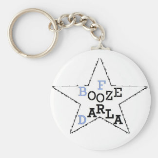 Booze For Darla - Distressed Star Basic Round Button Keychain