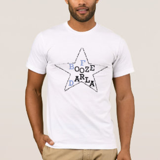 Booze For Darla - Distressed Star T-Shirt