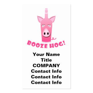 BOOZE HOG BUSINESS CARD or GIFT TAGS