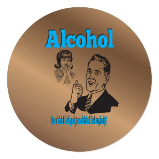 Booze Joker Retro Alcohol Humor Gag Card