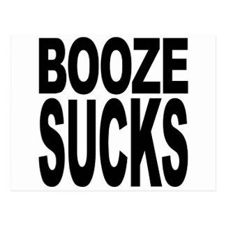Booze Sucks Postcard