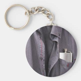 Boozer Basic Round Button Keychain