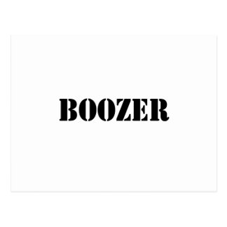Boozer Black Postcard