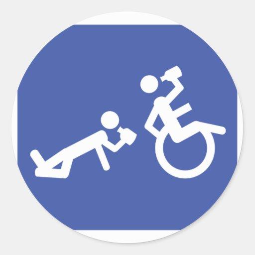 boozer de la silla de ruedas etiqueta redonda